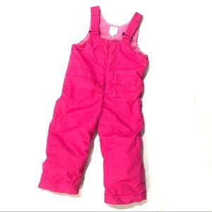 Girl's 3T Pink Snow Bibs